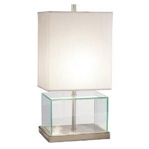 glass lamps glass table block lamps uma uttermost. Black Bedroom Furniture Sets. Home Design Ideas
